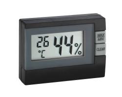 Гигрометр термометр TFA mini чёрный