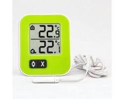 """Термометр цифровой TFA """"Moxx"""" внешний проводной датчик, зеленый"""