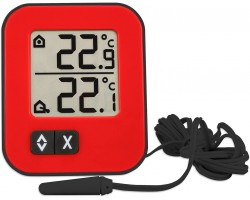 """Термометр цифровой TFA """"Moxx"""" внешний проводной датчик, красный"""