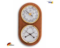Метеостанция TFA с барометром дуб 170х90 мм