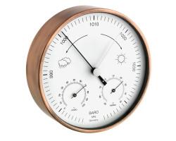 Метеостанция TFA с барометром, комнатная/уличная, медь d=160 мм