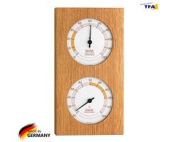 Термометр гигрометр для сауны TFA, дерево 130x242 мм