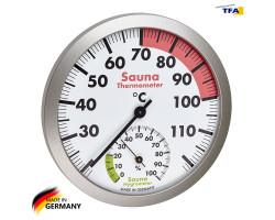 Термометр гигрометр для сауны TFA d=120 мм