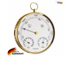 Барометр TFA с термометром и гигрометром, пластик d=135 мм