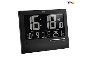 Часы настенные TFA цифровые с автоматическим подсвечиванием
