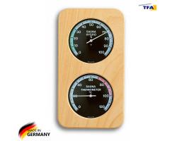 Термометр гигрометр для сауны TFA, дерево 240х130 мм