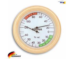 Термометр гигрометр для сауны TFA, дерево, d=190 мм