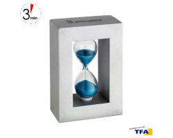 Часы песочные TFA, голубые, деревянная рамка