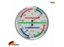 Термометр гигрометр для сауны TFA пластик, d=135 мм