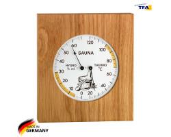 Термометр гигрометр для сауны TFA дерево, 180х200 мм