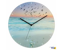 Стеклянные настенные часы SUNSET