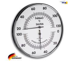 Термометр гигрометр для сауны TFA d=132 мм