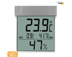Термометр гигрометр оконный цифровой TFA Vision на липучке