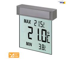 Термометр оконный цифровой TFA Vision на липучке
