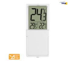 """Термометр оконный цифровой TFA """"Vista"""", на липучке"""