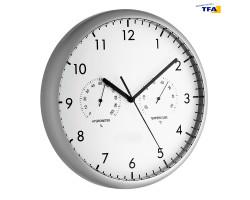 Часы настенные TFA  с термометром и гигрометром